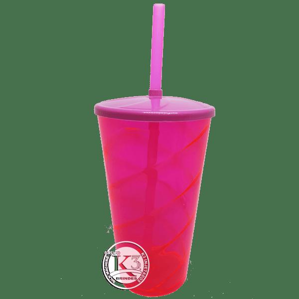 Copo Twister c/ Tampa-Rosa Neon