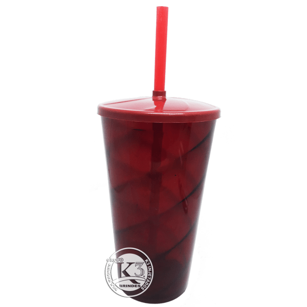 Copo Twister c/ Tampa Vermelho Ruby