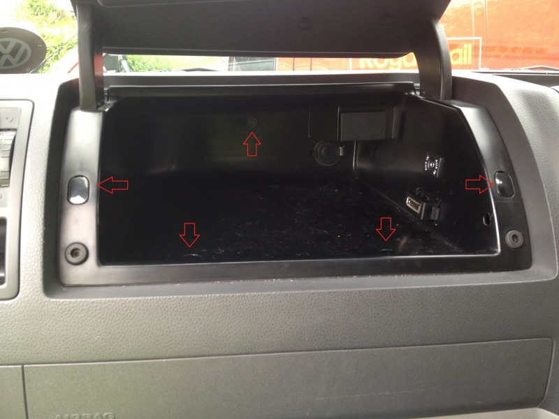 VW T5 Glove box