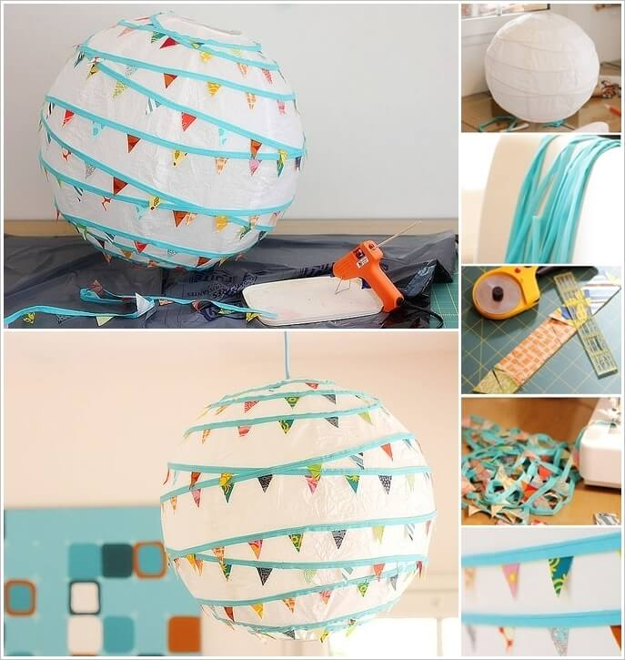lámparas con materiales reciclables paso a paso