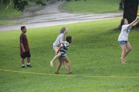 Spontaneous rain results in spontaneous play