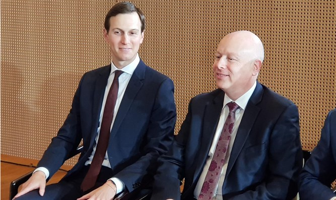 Image result for images kushner and greenblatt in israel
