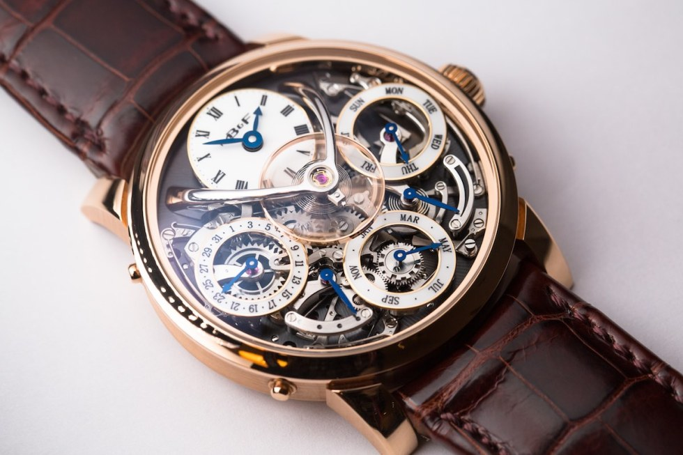 MB&F Legacy Machine Perpetual - Credits to The Horophile - red gold dial detail