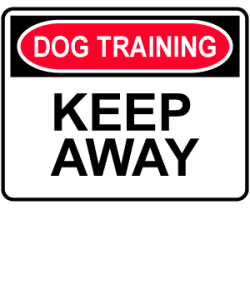 Dog Training: Keep Away design