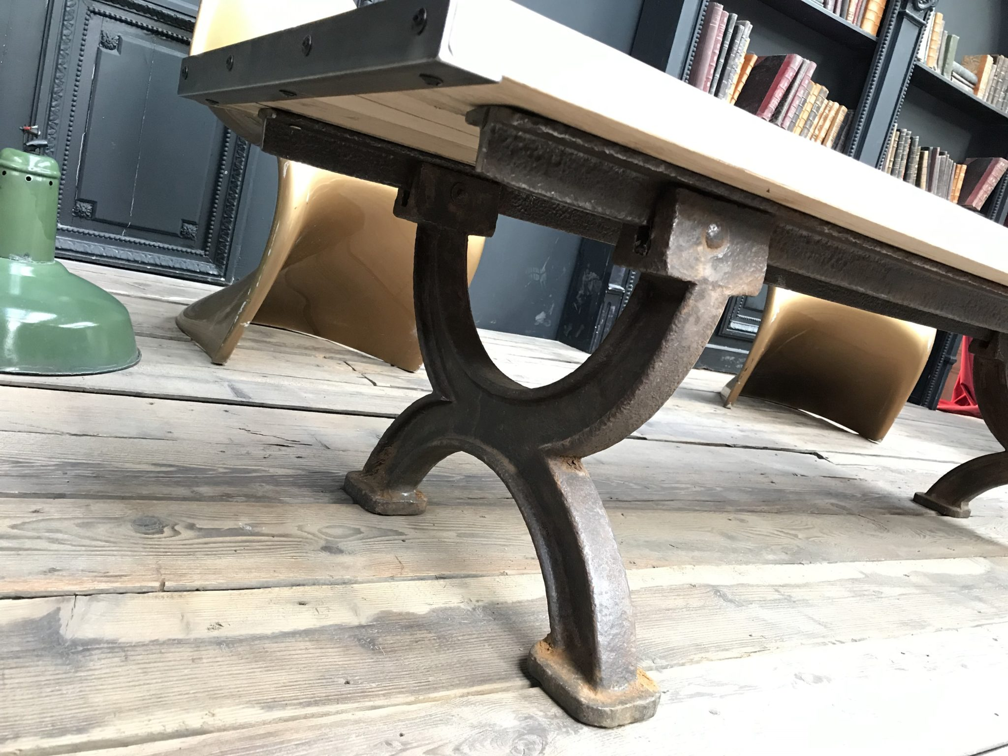 industrial style wooden coffee table