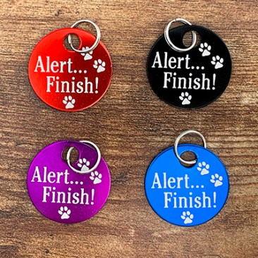 4 Colors of Alert Finish Bag Tags