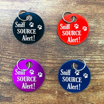 4 colors of Sniff Source Alert Brag Tags