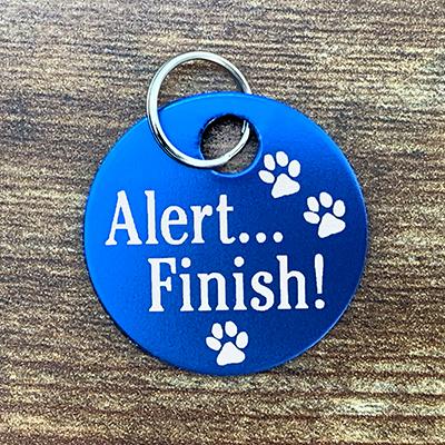 BLUE Alert Finish! brag Tag