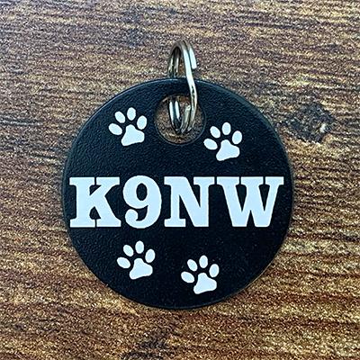 K9NW - BLACK Brag Tag