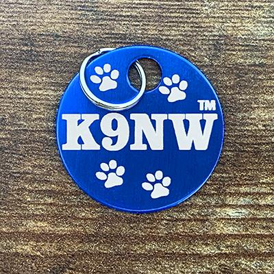 K9NW - BLUE Brag Tag