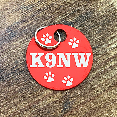 K9NW - RED Brag Tag