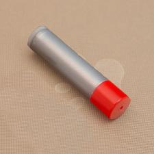 Dark Silver Lip Balm w/ Red Cap