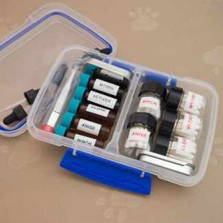 UKC- 5 Essential Oils and Scented Q's in a Snap Tight Case.