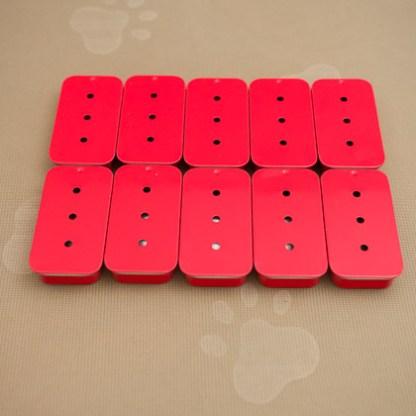 Regular Size RED Sliders: 3 Holes 10-Pack