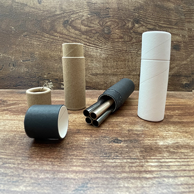 Black Cardboard Tube with Magnetic Straws