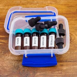 CPE - Oils - Birch, Anise, Clove, Vetiver and Myrrh 1 Dram in Boxed Set