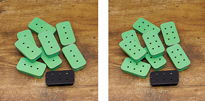 Oooops... Mint Green Sliders in 3 and 6 holes