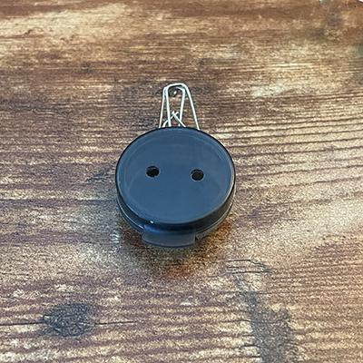 Mini Plastic BLACK Disk with Clip