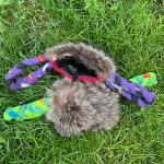 2-Braided-Felt-Handles-with-Raccon-Fur-Treat-Pouch-1