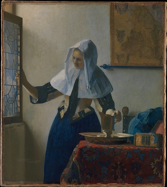Mondrian  Composition with Red  Blue  and Yellow  article    Khan     Johannes Vermeer  Young Woman with a Water Pitcher  c  1662  oil on canvas   45 7 x 40 6 cm  The Metropolitan Museum of Art
