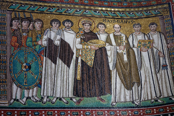 Justinian and his attendants (photo:Steven Zucker,CC: BY-NC-SA 2.0)