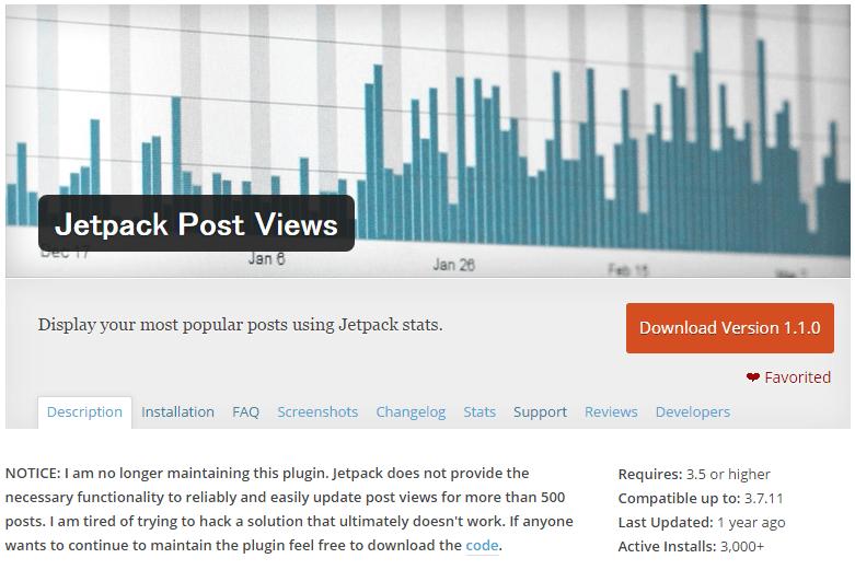 Jetpack Post Views