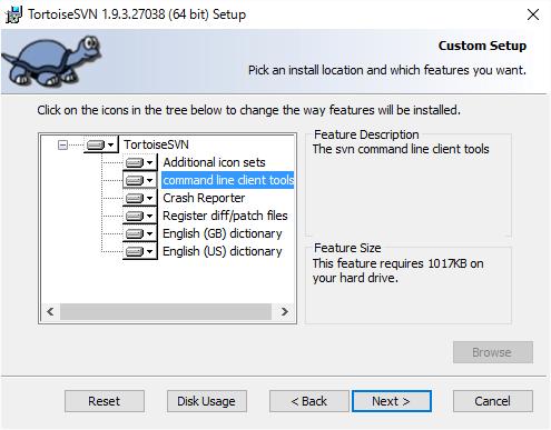 TortoiseSVN Custom Setup