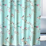 Details About Fabric Shower Curtain Garden Flowers Birds Blue 72 X 72 Bathroom Curtain Hooks