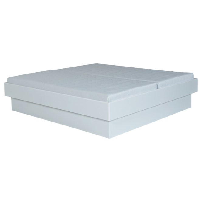 Plinth Bed Frame No 381 White 180 X 200 Cm Fixed Bases 510 90 Mattresses 540