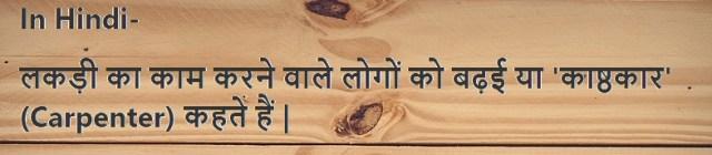 carpenter in hindi - Carpenter