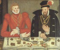 Samtidigt (og -forhpbentlig! - ikke synderligt vellignende) dobbeltportræt af dagens 500-års-fødselar & hustru