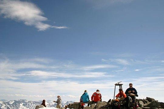 På toppen av Norge; Galdhøpiggen