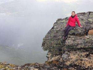 Marianne Wahlstrøm over Rombaksfjorden,