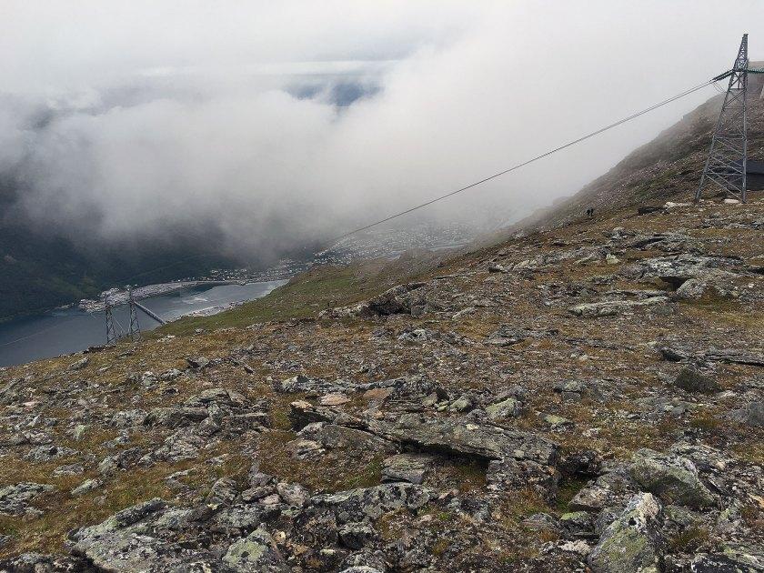 Det er bratt ned i Beisfjorden.