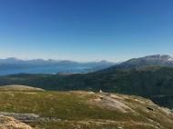 Utsikt mot Narvik by. Linken til høyre.