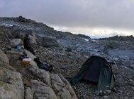 Første teltplass.