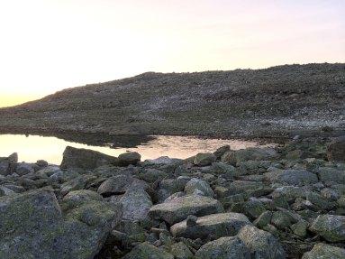 Det har kommet is på vannet i løpet av natten.