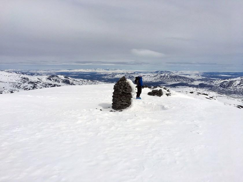 Toppvarden på Besshøe med min stevnebror.