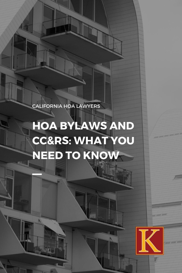California HOA Bylaws and CC&Rs