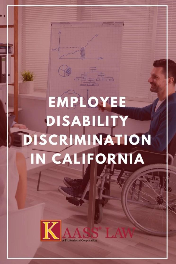 Employee Disability Discrimination in California