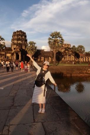 Angkor Wat was golden at sunset
