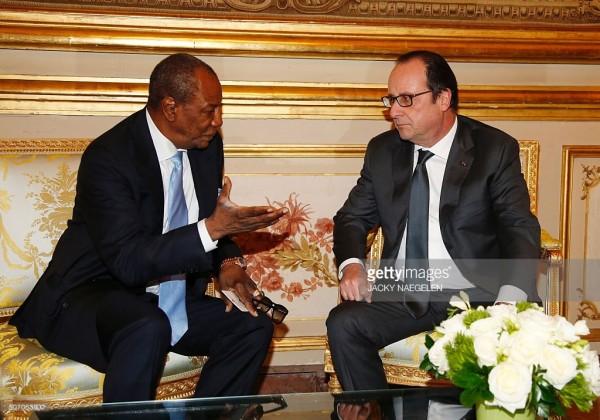 Alpha Condé demande de l'argent à Hollande