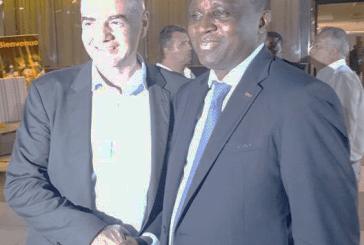 Antonio Souaré félicité par le président de la FIFA et primé meilleur manager sportif africain