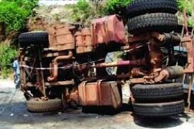 Dubréka : Un camion brûlé suite à un accident qui a fait 4 morts