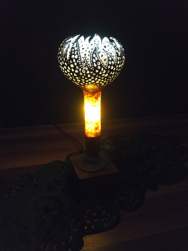 model tasarım su kabağı lamba