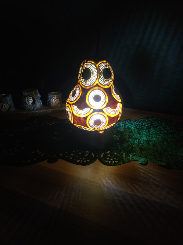 su kabağı ışıklı dekoratif led gece lamba lamba