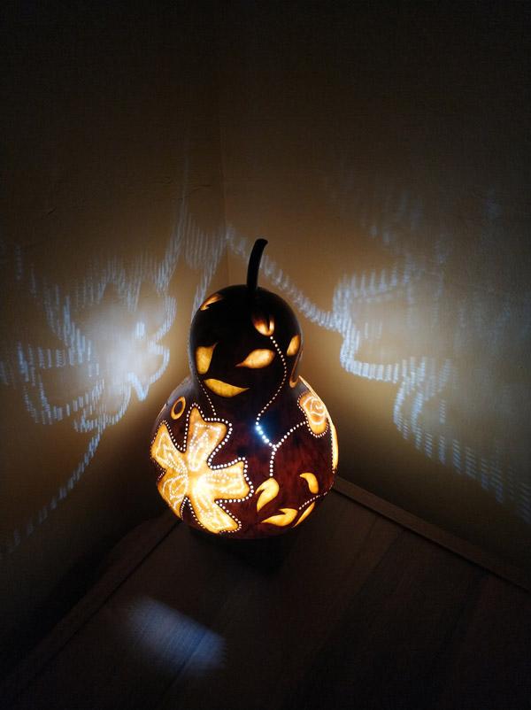 su kabağı otantik dekoratif aydınlatma lambası