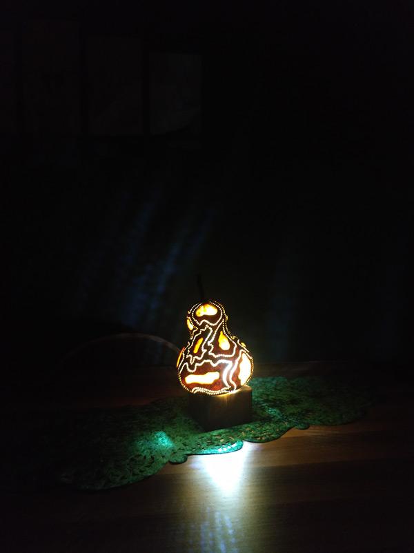 dekoratif led ışıklı gece masa lambası