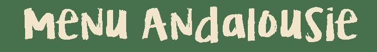 Menu Andalousie titre