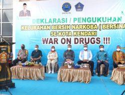 Pencanangan dan Deklarasi Kelurahan Bersih Narkoba, Pemkot Kendari Siap Perangi Narkoba